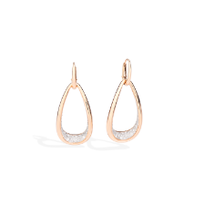 Fantina Earrings - Rose Gold 18kt, Diamond