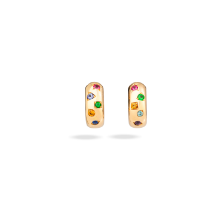 Earrings Iconica - Rose Gold 18kt, Red Tourmaline, Orange Sapphire, Blue Sapphire, Spinel, Tanzanita, Amethyst
